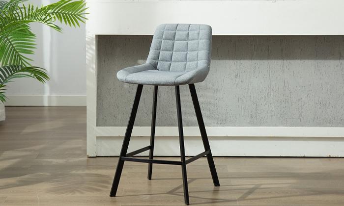 2 כיסא בר מרופד