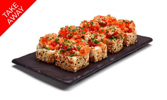 """4 סושי ב-Take Away ממסעדת אושי אושי Oshi Oshi, סניף עזריאלי ת""""א"""