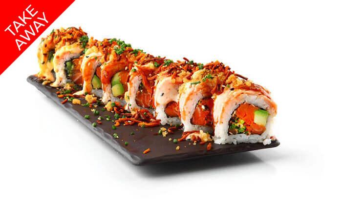 """5 סושי ב-Take Away ממסעדת אושי אושי Oshi Oshi, סניף עזריאלי ת""""א"""