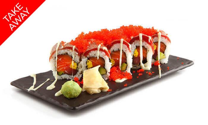 """2 סושי ב-Take Away ממסעדת אושי אושי Oshi Oshi, סניף עזריאלי ת""""א"""