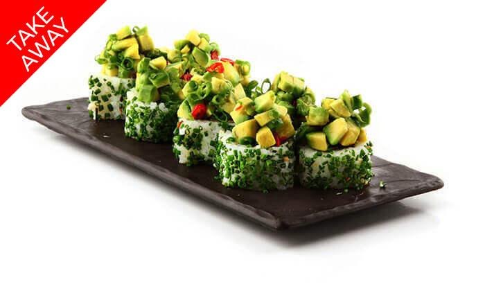 """3 סושי ב-Take Away ממסעדת אושי אושי Oshi Oshi, סניף עזריאלי ת""""א"""