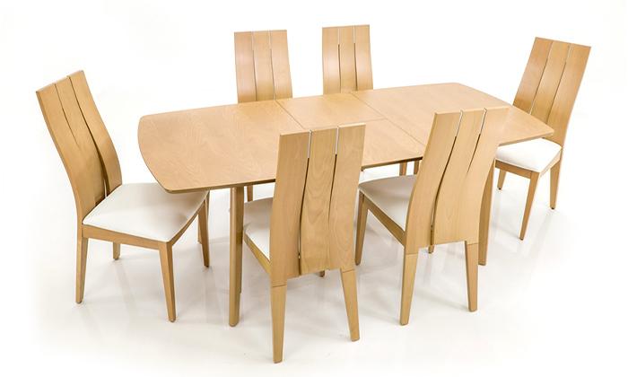 4 שמרת הזורע: פינת אוכל נפתחת עם 4/6 כיסאות