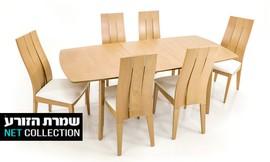 פינת אוכל עם 4 כיסאות