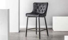 כיסא בר בריפוד קטיפה, דגם 9010