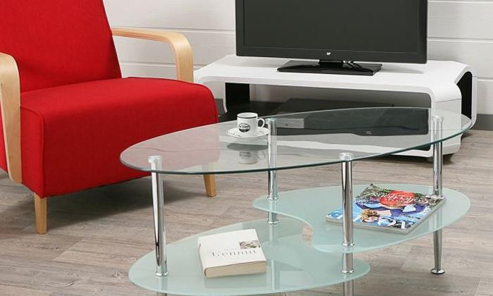 2 שולחן סלון אליפסה