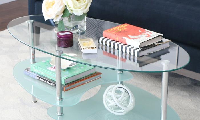3 שולחן סלון אליפסה