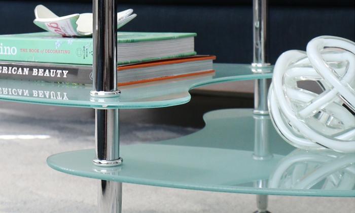 4 שולחן סלון אליפסה