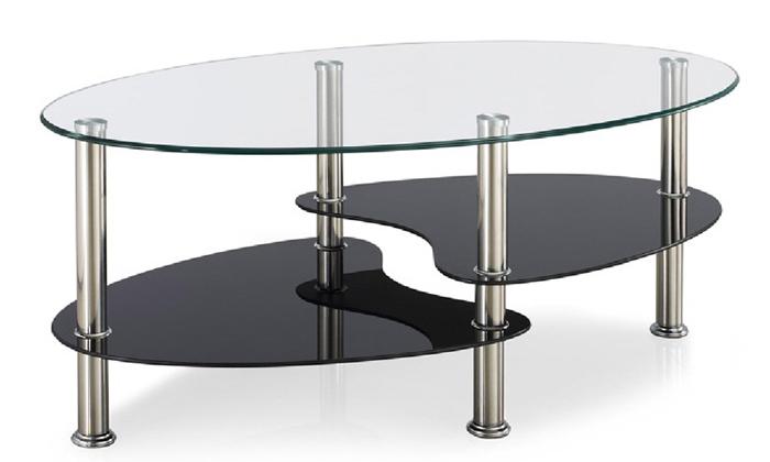 3 שולחן קפה אליפסה