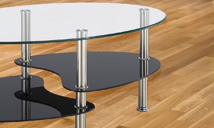 4 שולחן קפה אליפסה