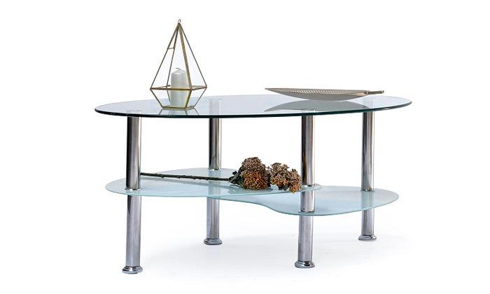 2 שולחן קפה אליפסה