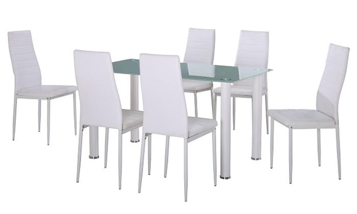 4 פינת אוכל עם 6 כיסאות