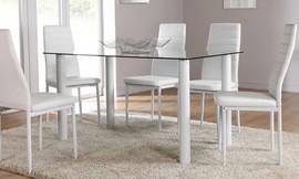 שולחן אוכל עם 6 כיסאות