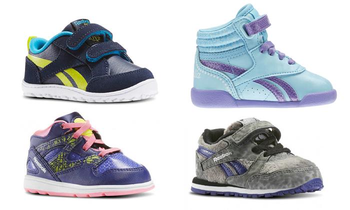 2 נעלי תינוקות Adidas ו-Reebok