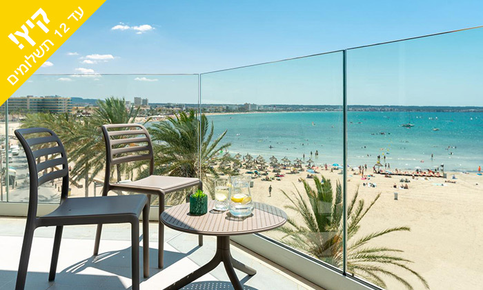 9 יולי-אוגוסט בפלמה דה מיורקה - מלון מפנק סמוך לחוף הים