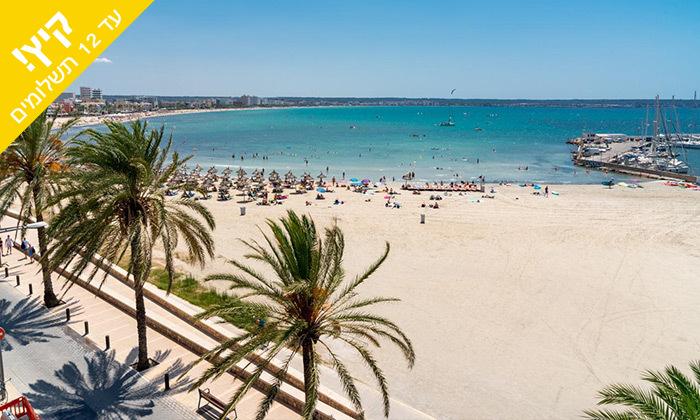 3 יולי-אוגוסט בפלמה דה מיורקה - מלון מפנק סמוך לחוף הים