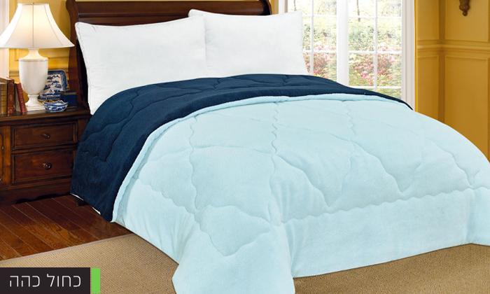 4 שמיכת חורף דו-צדדית למיטה זוגית