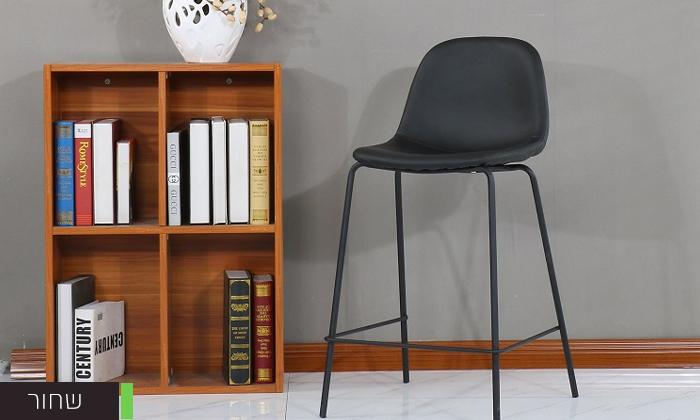 5 כיסא בר בריפוד דמוי עור