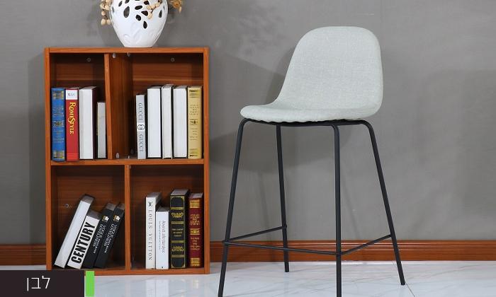 3 כיסא בר בריפוד דמוי עור