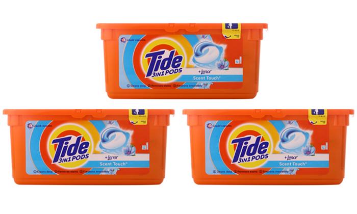 4 78 קפסולות ג'ל לכביסה טייד Tide