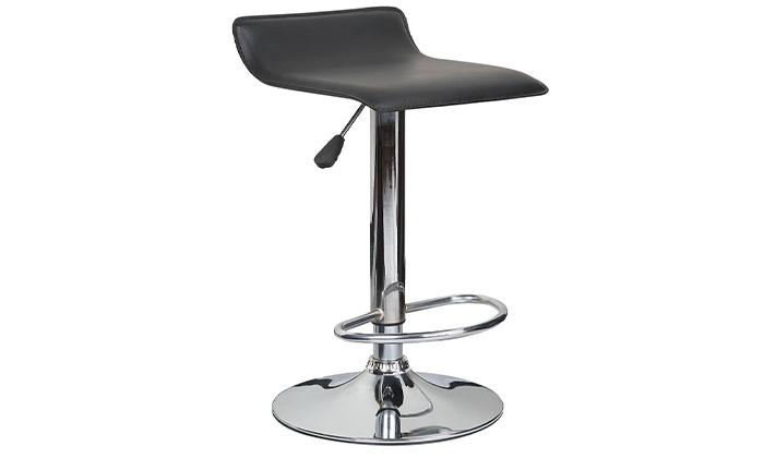 2 כיסא בר בריפוד דמוי עור