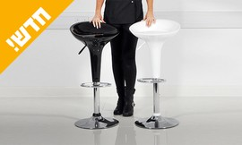 כיסא בר עם מושב פלסטיק