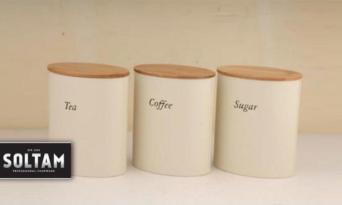 2 SOLTAM: סט קופסאות לאחסון קפה