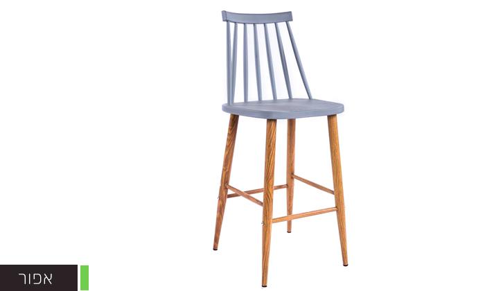 4 כיסא בר עם משענת גב גבוהה