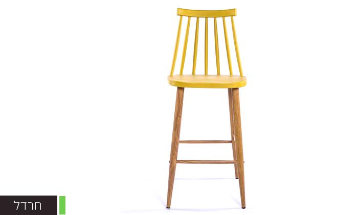 6 כיסא בר עם משענת גב גבוהה