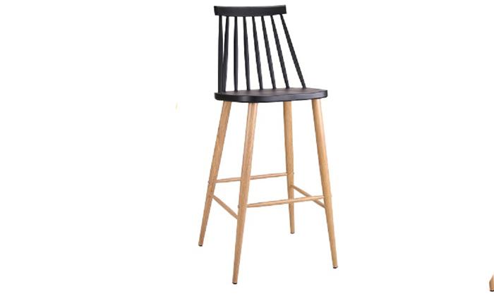 9 כיסא בר עם משענת גב גבוהה