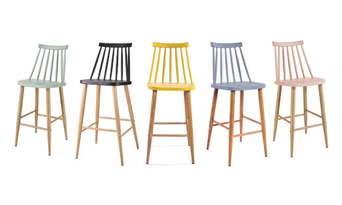 2 כיסא בר עם משענת גב גבוהה