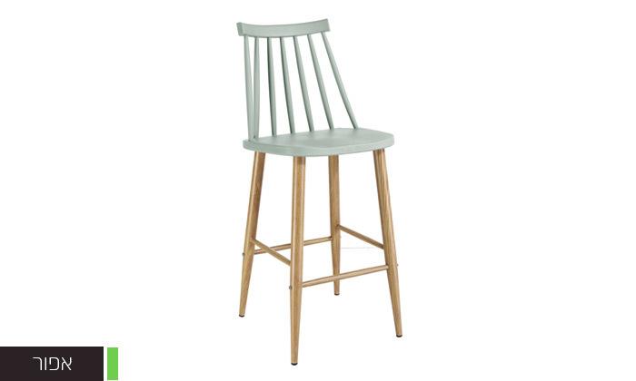 8 כיסא בר עם משענת גב גבוהה