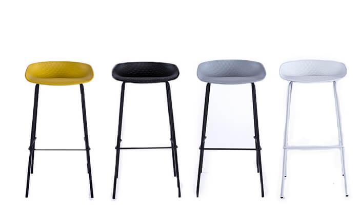 2 כיסא בר עם רגלי מתכת