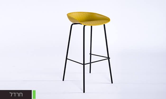 4 כיסא בר עם רגלי מתכת