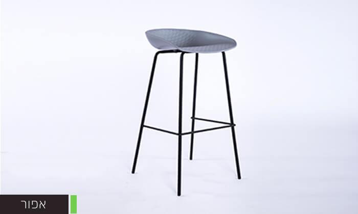 6 כיסא בר עם רגלי מתכת