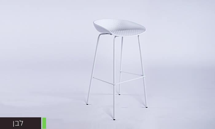 7 כיסא בר עם רגלי מתכת
