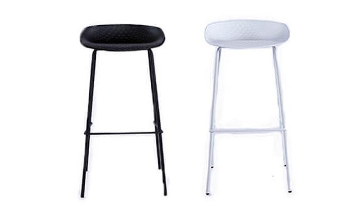 8 כיסא בר עם רגלי מתכת