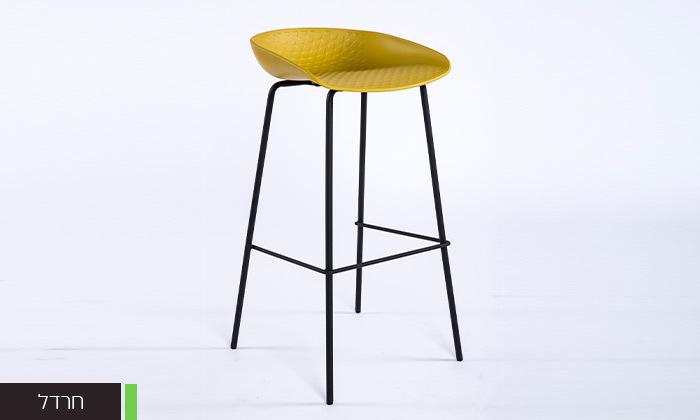 3 כיסא בר עם רגלי מתכת