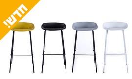 כיסא בר עם רגלי מתכת
