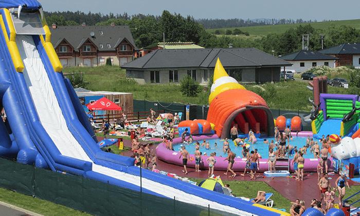 8 יולי-אוגוסט למשפחות בהרי הטטרה - מלון עם פארק מתנפחים במים
