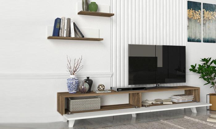 7 מזנון טלוויזיה 1.8 מטר + 2 מדפים