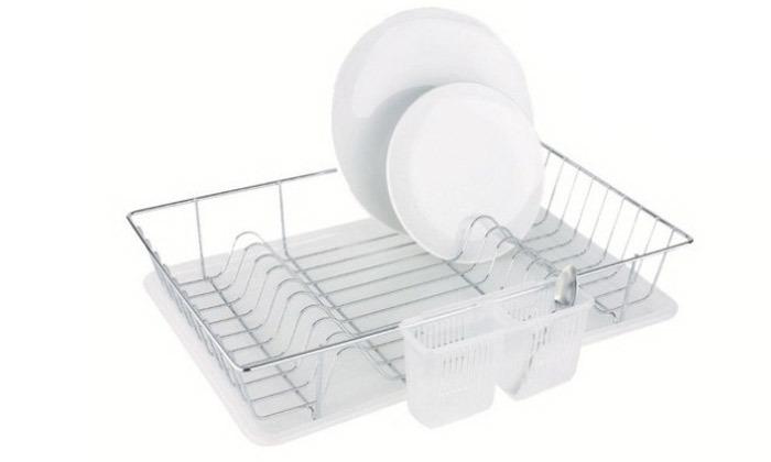 2 מייבש כלים לוקס שטוח ומגש