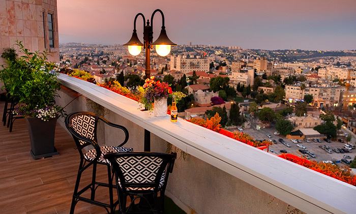 "4 My Jerusalem View - מלון בלב ירושלים, כולל סופ""ש"