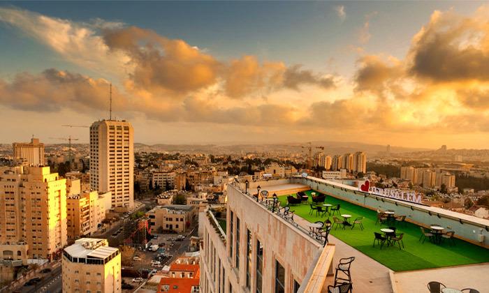 "2 My Jerusalem View - מלון בוטיק בלב ירושלים, כולל סופ""ש"