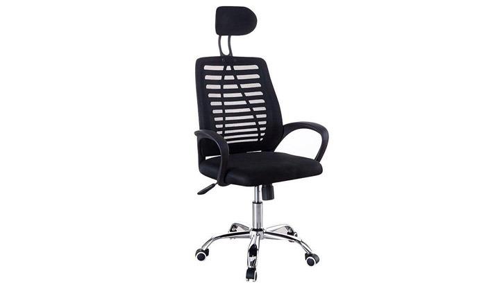 2 כיסא משרדי בעל משענת ראש