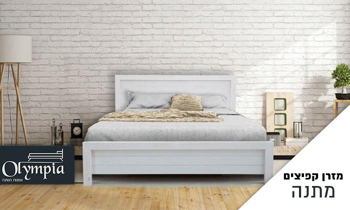 2 אולימפיה: מיטה מעץ מלא דגם 5034 כולל מזרן