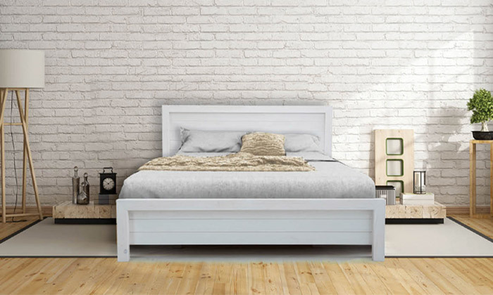 5 אולימפיה: מיטה מעץ מלא דגם 5034 כולל מזרן