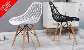 זוג כיסאותאוכל מעוצבים