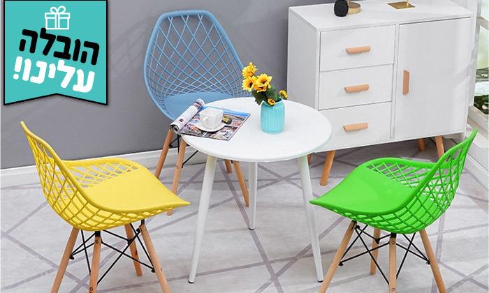 2 זוג כיסאותאוכל מעוצבים- משלוח חינם