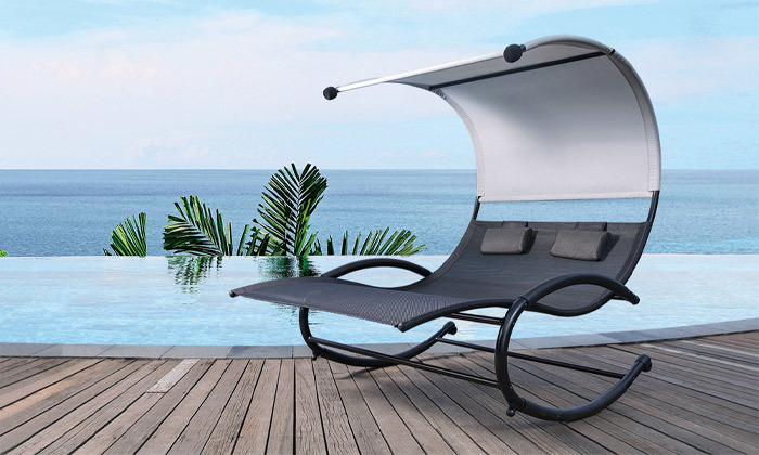 2 פינוקית - כיסא נדנדה זוגי לגינה