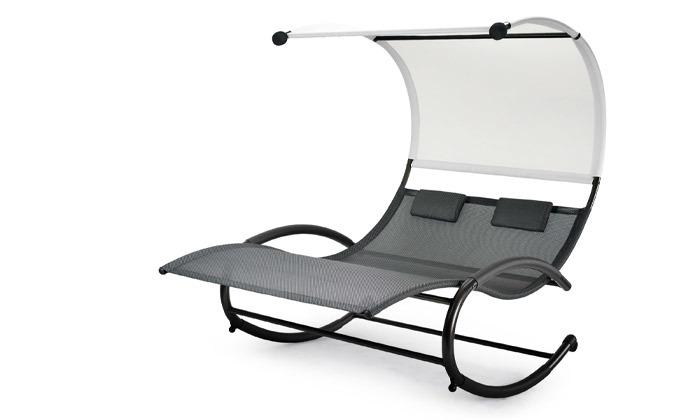 3 פינוקית - כיסא נדנדה זוגי לגינה